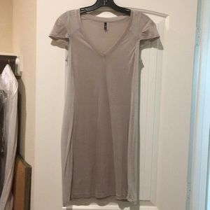 For All Mankind 7 Gray sheer T shirt dress